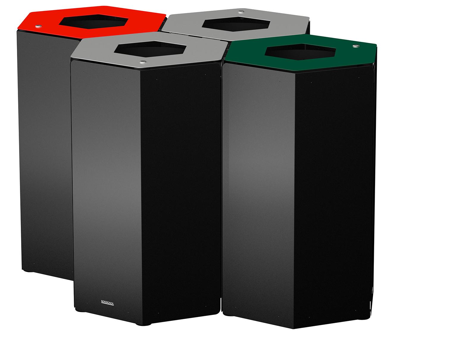 ae205b58707bb Tri sélectif quatro de poubelles corbeilles à Bruxelles